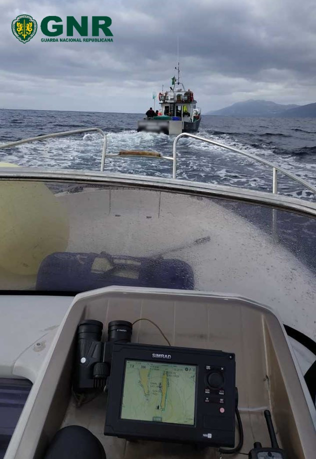 GNR Açores - Apreensão de pescado